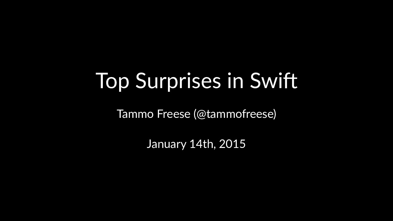 Top Surprises in SWIFT